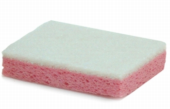 Schuurspons cellulose 10x7cm ROOS/WIT