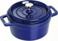 Ronde Cocotte 22 cm - donkerblauw