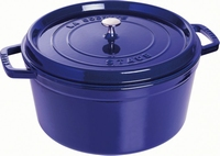 Ronde Cocotte 34 cm - donkerblauw