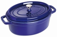 Ovale Cocotte 29 cm - donkerblauw