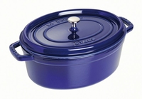 Ovale Cocotte 31 cm - donkerblauw