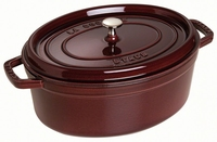 Ovale Cocotte 31 cm - aubergine