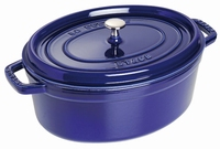 Ovale Cocotte 33 cm - donkerblauw