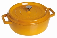 Lage Ronde Cocotte 26 cm - mosterd
