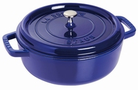 Lage Ronde Cocotte 26 cm - donkerblauw