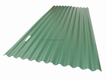 SCALATOP GOLFPLAAT PVC 76/18 0.9X2M GROEN